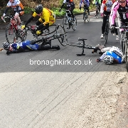 Pile Up in Ladies and Masters Race